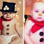 Малыш в роли снеговика
