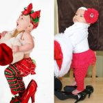 Малышка в новогоднем наряде