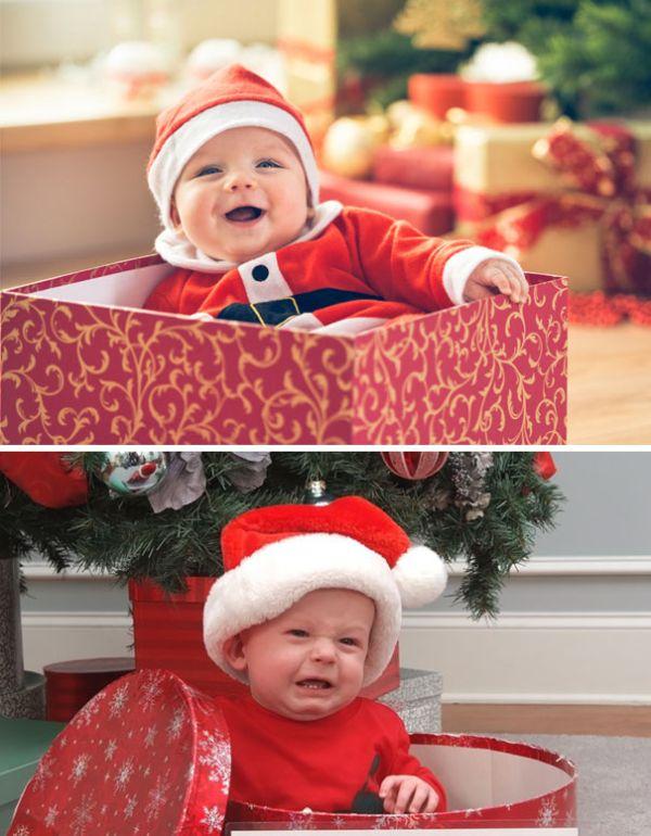 Малыш в новогодней коробке