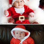 Ребёнок в костюме Санта Клауса