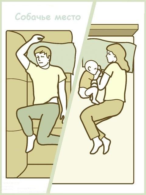 Папа спит на диване, а мама в кровати с ребёнком