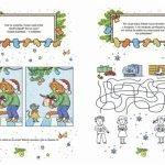 «Весёлый Новый год. Книга игр, рисунков и поделок»: разворот, где нужно найти отличия