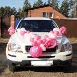 Машина на выписку с шарами