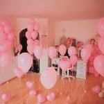 Комната с гелиевыми шарами для девочки