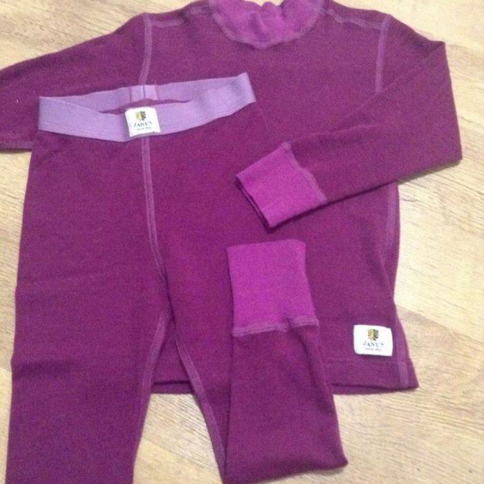 Фиолетовое термобельё из мериносовой шерсти