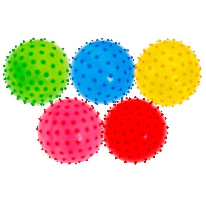 пять разноцветных мячиков