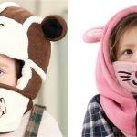 Детская зимняя шапка-маска
