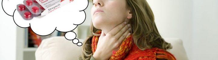 У женщины болит горло
