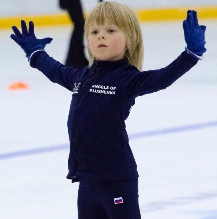 Саша Плющенко на льду