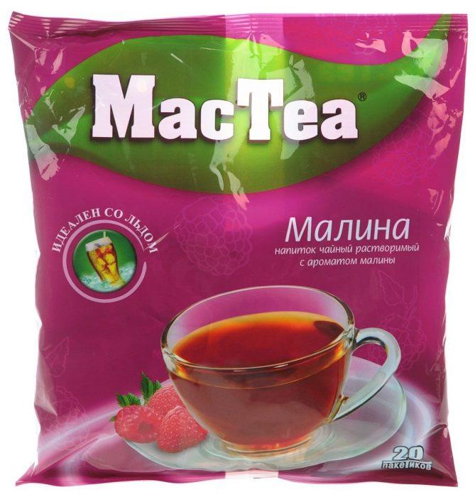 Растворимый чай с ароматом малины