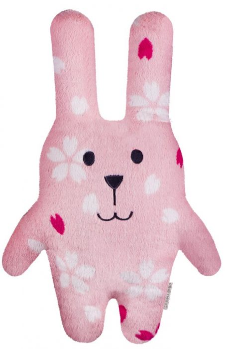 Розовый игрушечный заяц