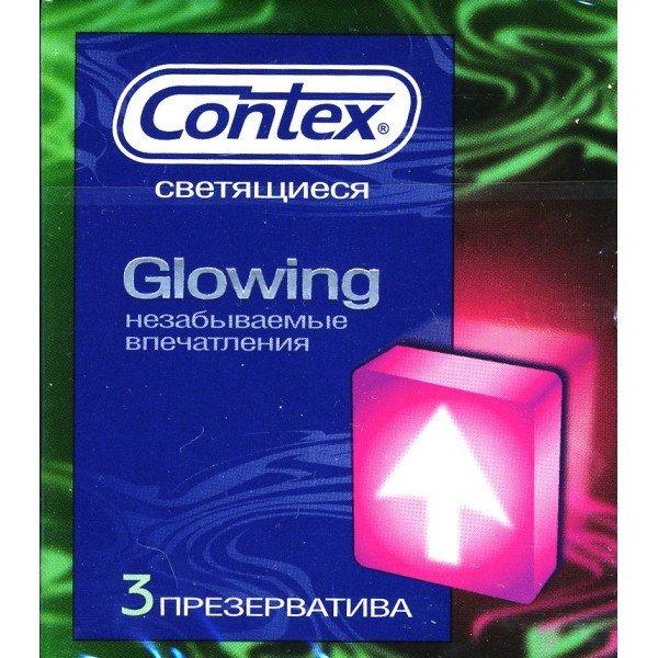 Упаковка светящихся презервативов Contex Glowing