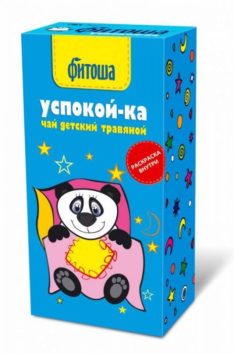Упаковка детского чая Фитоша Успокой-ка