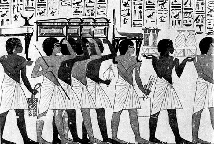 Мужчины в набедренных повязках в Древнем Египте