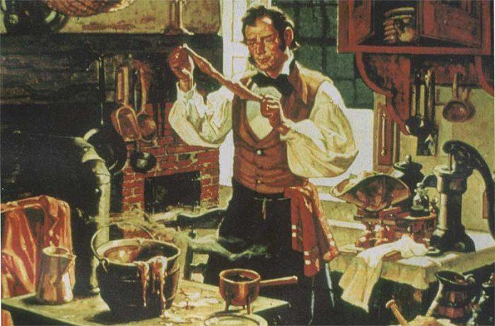 Человек занимается изготовлением резины