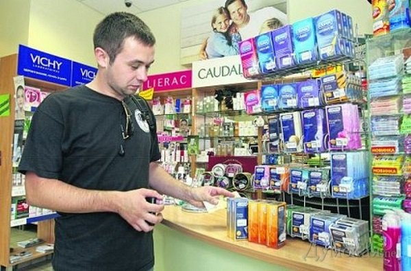 Презервативы в аптеке