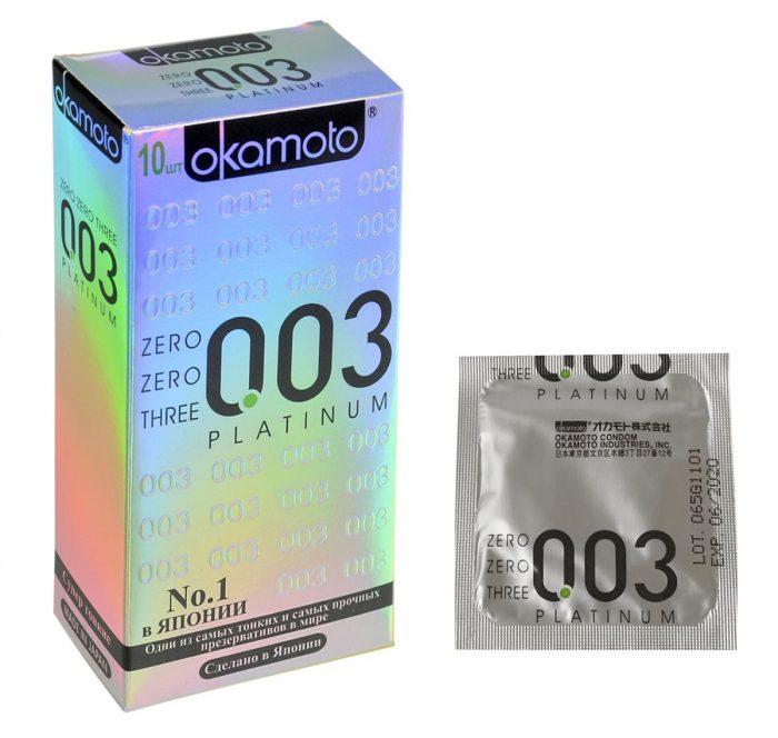 Упаковка Okamoto 003 Platinum