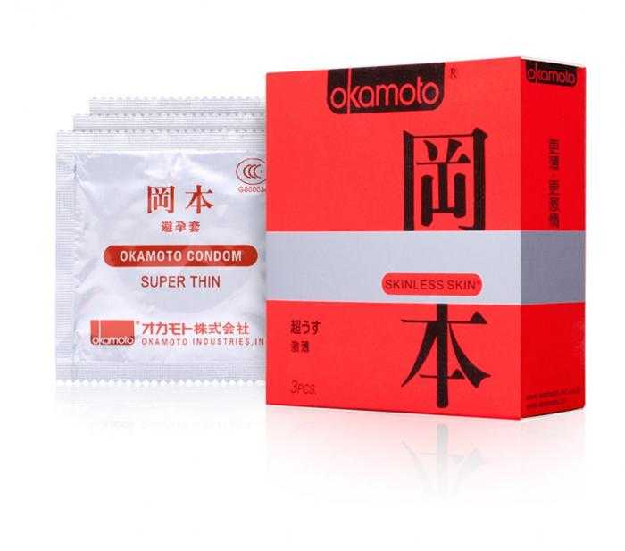 Упаковка Okamoto Skinless Skin Super Thin
