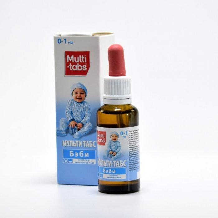Упаковка и флакон Мульти-табс Бэби