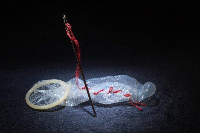 Зашитый презерватив