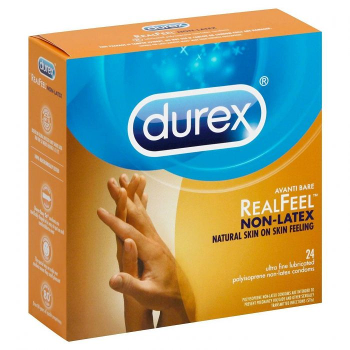 Упаковка Durex Avanti Bare Real Feel Polyisoprene