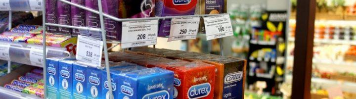 презервативы в магазине