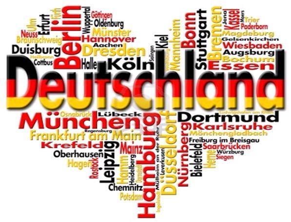 Немецкие слова внутри сердечка