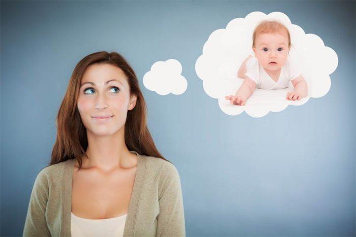 Девушка мечтает о ребёнке