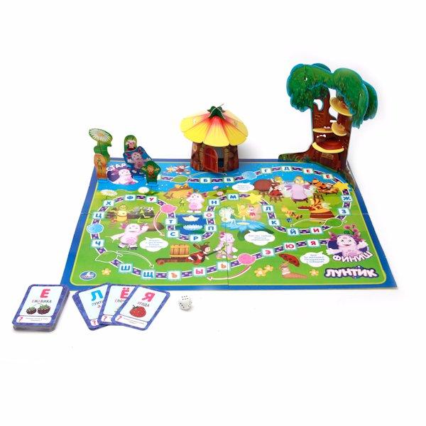 Игровое поле игры-бродилки «Лунтик» с буквами