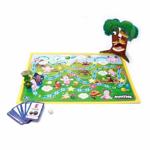 Игровое поле игры-бродилки «Лунтик» с цифрами
