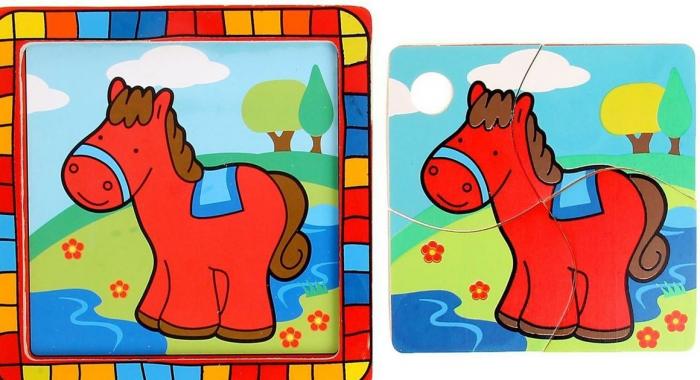 Пазл с изображением лошадки