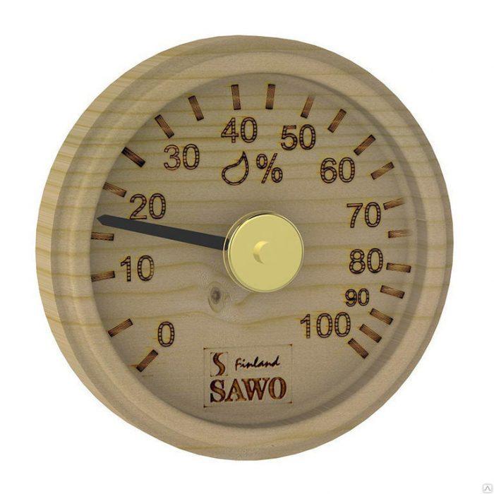 Гигрометр показывает примерно 17% влажности воздуха