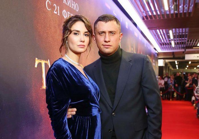 Актриса Агата Муцениеце с мужем, Павлом Прилучным