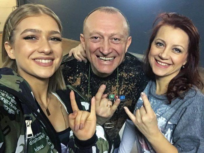 Зинаида Куприянович с папой и мамой