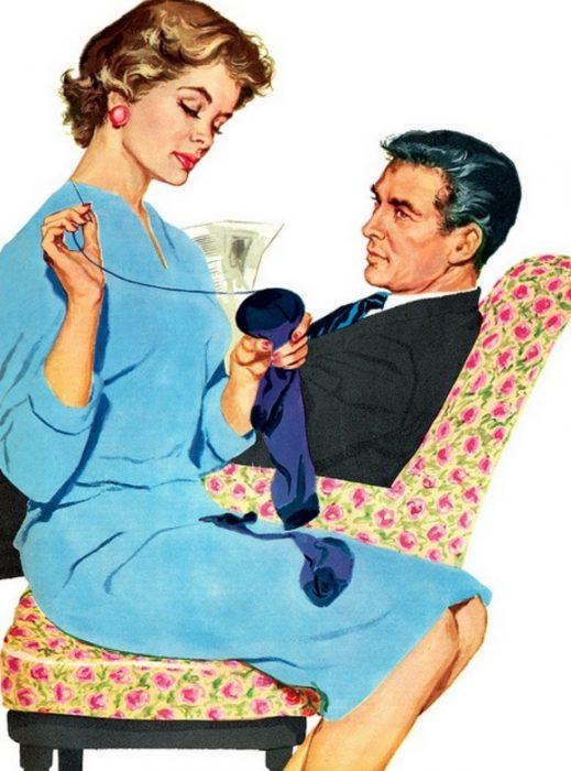 женщина с мужем 50-е