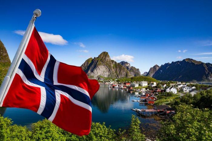Норвежский фраг и город