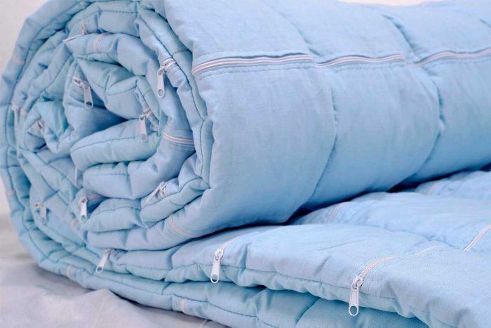 Тяжёлое одеяло с регулируемым весом
