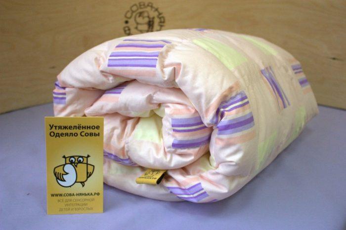 Утяжелённое одеяло фирмы «Сова-нянька»