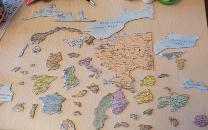 Пазлы из карты мира