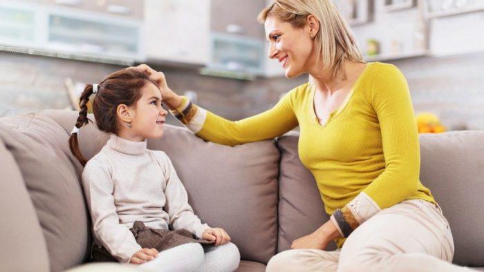 Рзговор мамы с дочкой