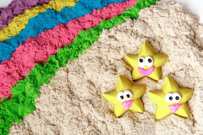 Кинетический песок различной окраски