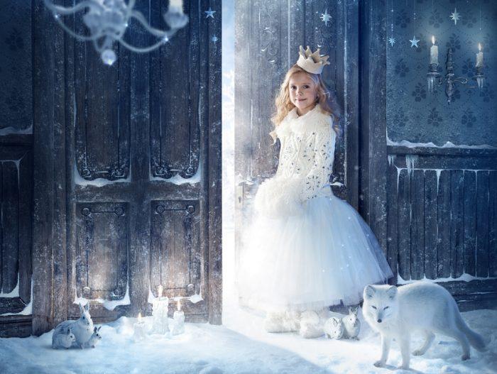 фотосессия девочка зима