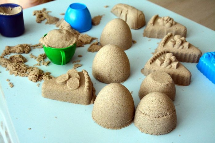 Поделки из кинетического песка