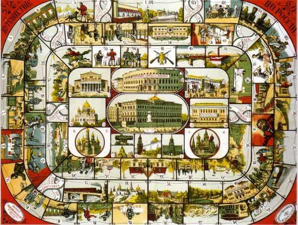 Игровое поле для Путешествия из Москвы в Одессу