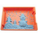 Снеговик с ёлками из кинетического песка
