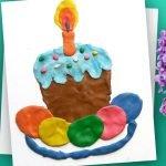 Рисунок пластилином «Кулич и пасхальные яйца»