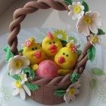 Композиция «Пасхальная корзинка с цыплятами и яйцом»