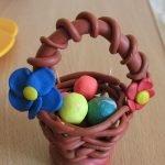 Композиция «Корзинка с пасхальными яйцами»