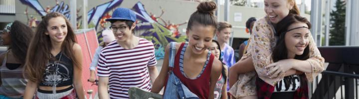 американские подростки гуляют