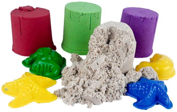 Кинетический песок разноцветный